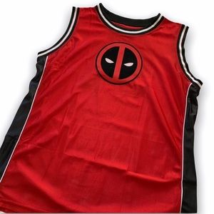 Marvel Deadpool Red & Black Basketball Jersey 2XL